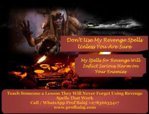 Karma Revenge Spells | Voodoo Revenge Spells to Punish Someone Who Hurt You - Death Spells Call +278