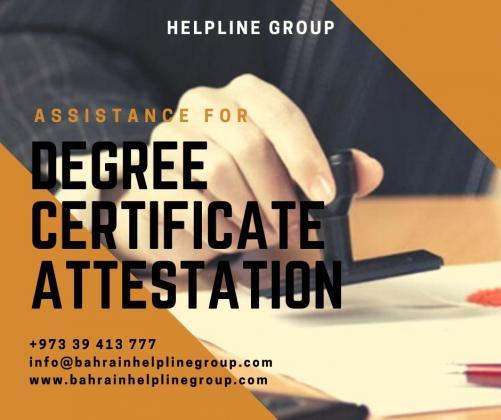 Degree Certificate Attestation in Bahrain