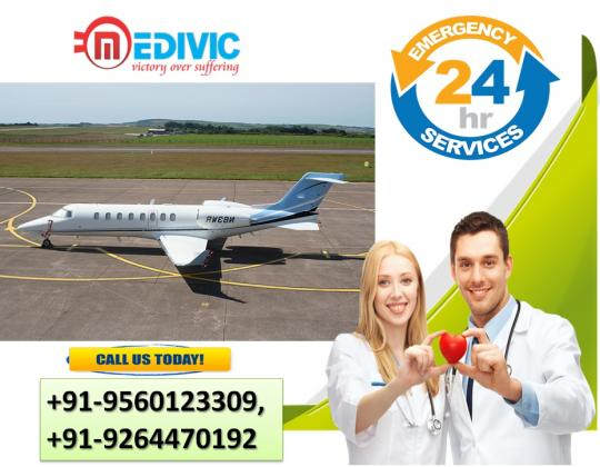 Get Medivic Air Ambulance Services in Patna with Complete ICU Setup