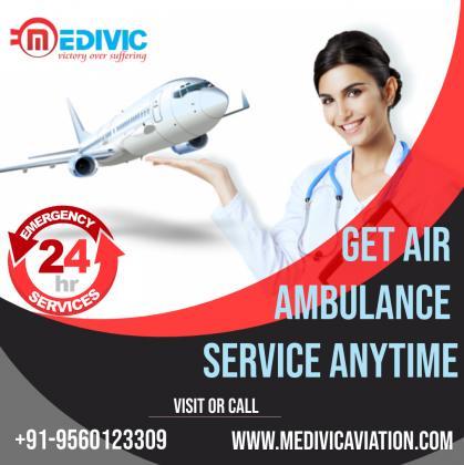 Use Instant Emergency ICU Air Ambulance Service in Gaya by Medivic
